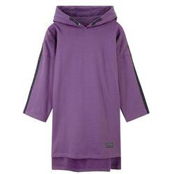 Sukienka dresowa z kapturem bonprix ultrafioletowy
