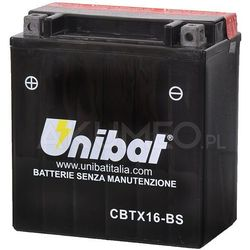 Akumulator UNIBAT AGM CBTX16-BS 12V 14Ah 230A lewy+