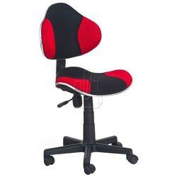 Fotel młodzieżowy halmar FLASH czarno-czerwony