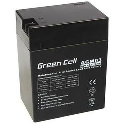 Akumulator AGM 6V 14Ah {108 × 71 × 140 mm} (GreenCell)
