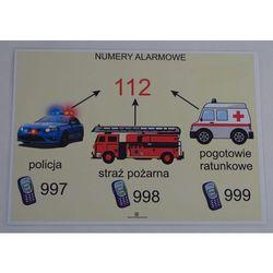 Bezpieczeństwo- numery alarmowe- plansza demonstracyjna