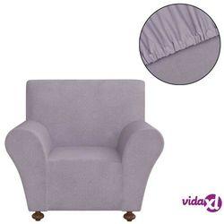 vidaXL Elastyczny pokrowiec na fotel, z dżerseju, szary Darmowa wysyłka i zwroty