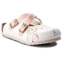 Klapki dziecięce, Klapki BIRKENSTOCK - Dorian Kids 1010354 Frozen Elsa Rose White