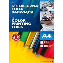 Metaliczna folia barwiąca A4, opakowanie 25 sztuk, zielona, 362504