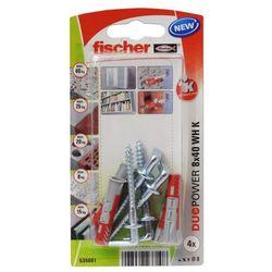 Kołek uniwersalny Fischer Duopower 8 x 40 z hakiem 4 szt.