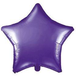 Balon foliowy gwiazdka fioletowa - 48 cm - 1 szt.