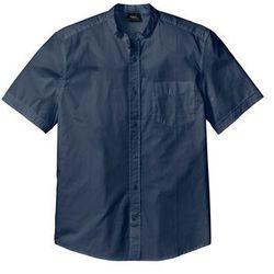 Koszula ze stójką, krótki rękaw, Regular Fit bonprix ciemnoniebieski