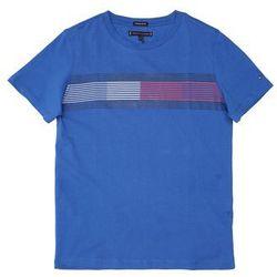 TOMMY HILFIGER Koszulka 'ESSENTIAL FLAG TEE S/S' niebieski / merlot / naturalna biel