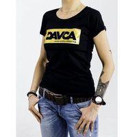 Pozostałe akcesoria do motocykli, Davca t-shirt lady black gold logo