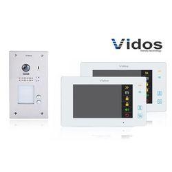 Zestaw cyfrowy wideodomofon dwurodzinny VIDOS S1202A_M1021W biały