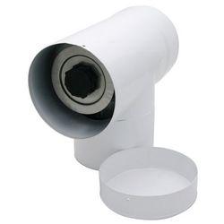 Trójnik 2-ścienny Spiroflex 80/125 mm z deklem biały