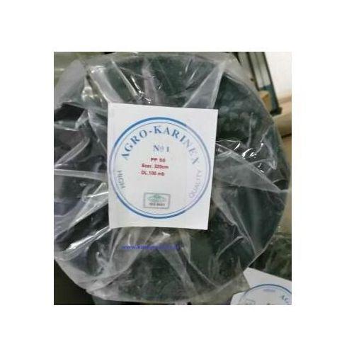 Folie i agrowłókniny, Agrowółknina ściółkujaca PP 50 g/m2 czarna 3,2 x 100 mb. Rolka złozona na 160 cm i wadze 17,3 kg.