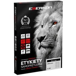 Etykiety samoprzylepne A4 Emerson, nr 5, wymiary 64 x 33,8 mm, opakowanie 100 arkuszy po 24 etykiety - Autoryzowana dystrybucja - Szybka dostawa - Tel.(34)366-72-72 - sklep@solokolos.pl