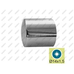 Zaślepka walcowa na rurę 14 AISI304, D16/d14mm/L15
