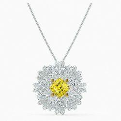 Broszka Eternal Flower, żółta, różnobarwne metale