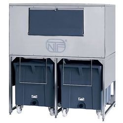 Zasobnik na lód ze stali nierdzewnej, 300+2x108 kg, 1560x1330x1780 mm | NTF, DRB 1100