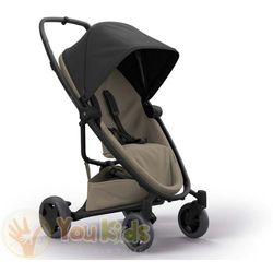 Od YouKids ZAPP FLEX PLUS 2w1 Quinny gondola LUX wózek głęboko-spacerowy black on sand + sand on grey