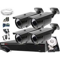 Zestawy monitoringowe, Zestaw do monitoringu: Rejestrator LV-XVR44SE, 4x Kamera LV-N4400IR60TV, 500GB, akcesoria