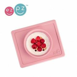 EZPZ - Silikonowa miseczka z podkładką 2w1 Mini Bowl - pastelowy róż
