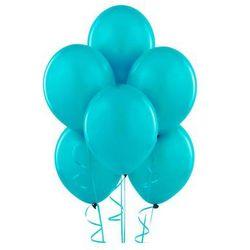 Balony lateksowe pastelowe turkusowe - średnie - 100 szt.