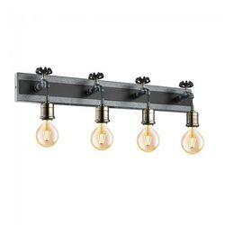 Kinkiet Eglo Goldcliff 49104 lampa ścienna spot listwa 4x60W E27 srebrny-antyczny/czarny