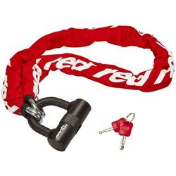 Red Cycling Products High Secure Chain Plus Łańcuch rowerowy z zamkiem, red 2019 Łańcuchy Przy złożeniu zamówienia do godziny 16 ( od Pon. do Pt., wszystkie metody płatności z wyjątkiem przelewu bankowego), wysyłka odbędzie się tego samego dnia.