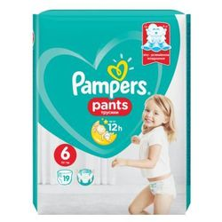 Pampers, Active Baby Pants. Pieluchomajtki, rozmiar 6 Extra Large, 19 sztuk - Pampers
