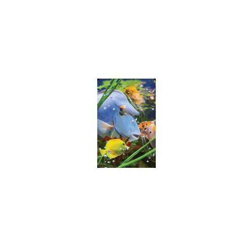 Pozostałe artykuły papiernicze, Mini kartka 3D Niebieska Ryba
