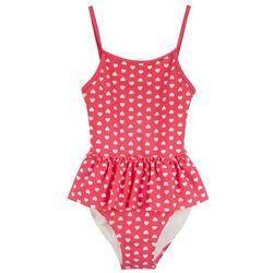 Kostium kąpielowy dziewczęcy bonprix różowo-biały