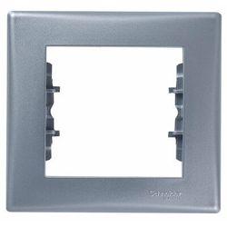Sedna ramka Schneider pojedyncza aluminium SDN5800160