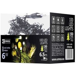 Lampki choinkowe EMOS 100 LED 5M IP20 DL