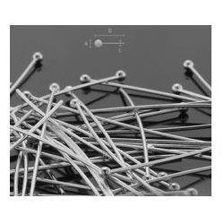 Szpilki drut 0,5 mm długość 25 mm srebro HP 0,50 25 mm