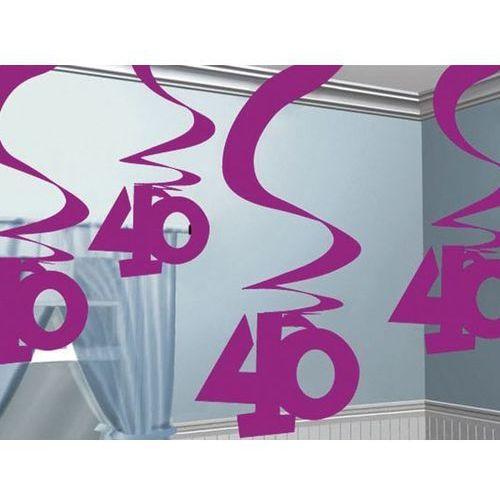 Pozostałe wyposażenie domu, Dekoracja metaliczne świderki różowe - 40 tka - 5 szt.