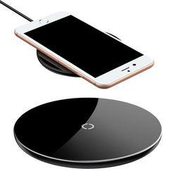 Baseus Simple stylowa bezprzewodowa ładowarka Qi 2A 1.67A 10W z kablem USB / Lightning 1,2M czarny (CCALL-JK01) Ładowarki -20% (-20%)