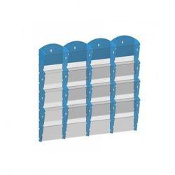 Plastikowy uchwyt ścienny na ulotki - 4x4 A5, niebieski