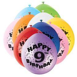 Balony pastelowe z nadrukiem dziewiątka