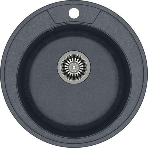 Zlewozmywak danny 210 czarny metalik + odpływ stalowy [hb8301u8-bs] marki Quadron
