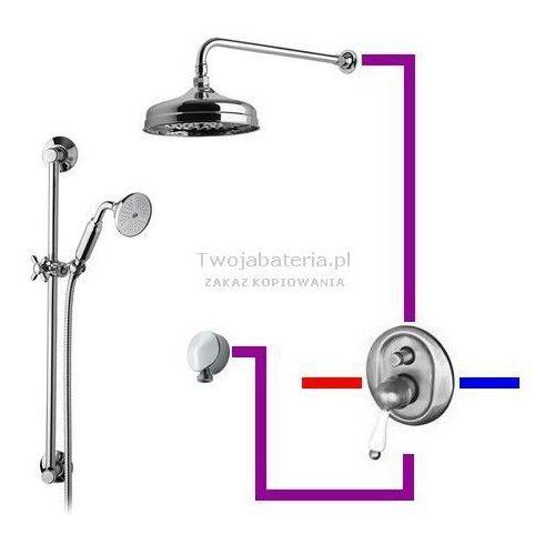 harmony kompletny zestaw prysznicowy deszczownica zestaw natryskowy retro gg3hch marki Giulini giovanni