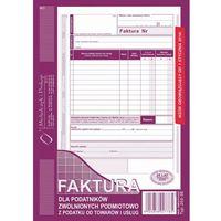 Druki akcydensowe, Faktura dla podat. zwol. podmiot. Michalczyk&Prokop 202-3E - A5 (oryginał+kopia)
