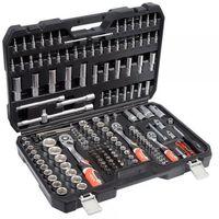 """Zestawy narzędzi ręcznych, Yato Zestaw narzędziowy 1/4"""", 3/8"""", 1/2"""" kpl 173 szt"""