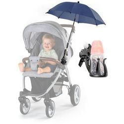 Parasolka UV50+ do wózka + uchwyt na butelkę REER - granatowy