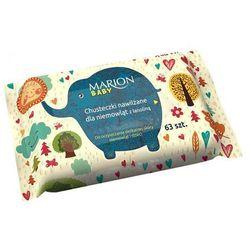 Marion, Chusteczki nawilżane dla niemowląt, 63szt - MARION