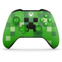 Gamepady, Microsoft Xbox One S Gamepad Minecraft Creeper - BEZPŁATNY ODBIÓR: WROCŁAW!