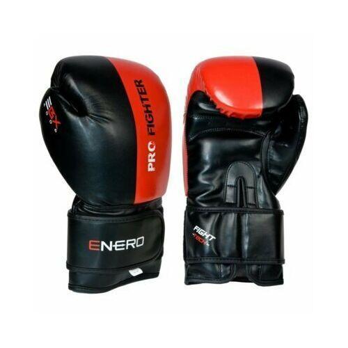 Pozostałe sporty walki, Rękawice bokserskie ENERO Pro Fighter (rozmiar 10oz) Czarno-czerwony