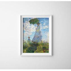 Plakaty w stylu retro Plakaty w stylu retro Madame Monet i jej syn Claude Monet