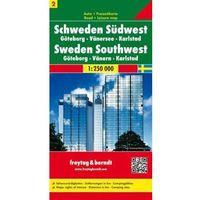 Mapy i atlasy turystyczne, Szwecja cz.2 część południowo-zachodnia Göteborg-Vänersee-Karlstad, 1:250 000 (opr. twarda)