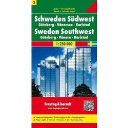 Szwecja cz.2 część południowo-zachodnia Göteborg-Vänersee-Karlstad, 1:250 000 (opr. twarda)