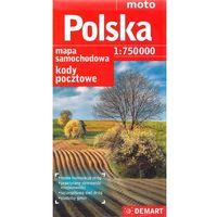 Mapy i atlasy turystyczne, Polska 1:750 000 kody pocztowe mapa drogowa (opr. miękka)