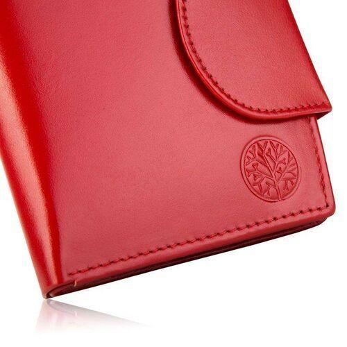 Portfele i portmonetki, Portfel damski skórzany bpd-dz-319 czerwony