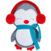 Kreatywne dla dzieci, Zestaw kreatywny - maskotka z filcu pingwinek. KSFI-114. - DP CRAFT